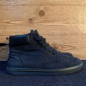 Dr Martens Delaney Canvas/Leather Ankle Boots